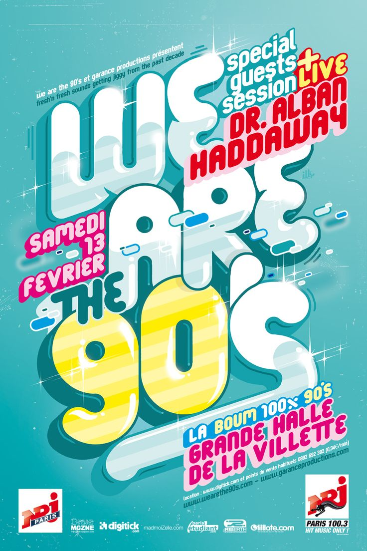 Poster design reference - 90s Poster Graffiti Style Typography