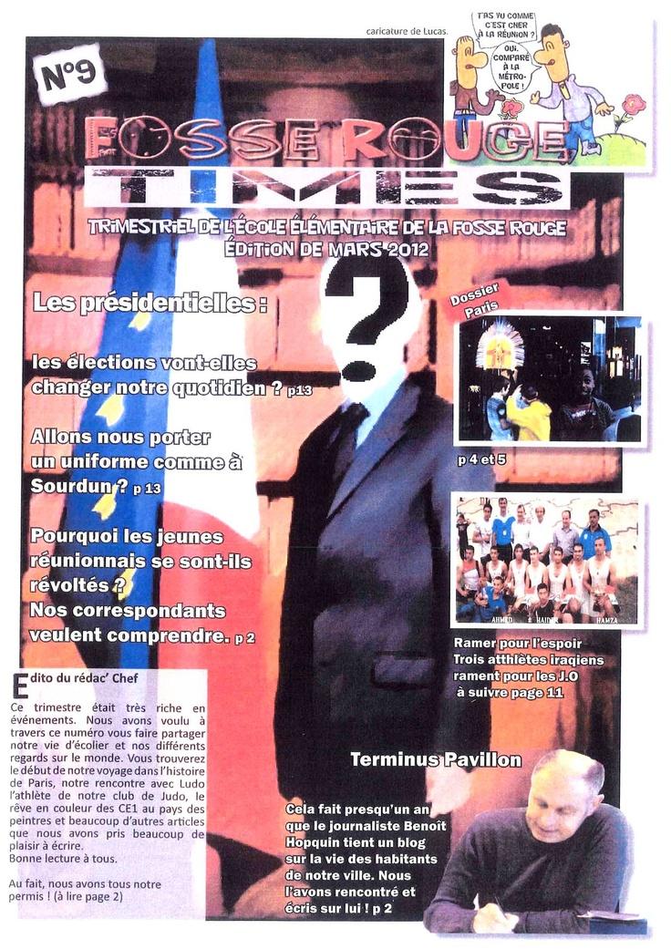 Fosse Rouge Times  n°9, mars 2012, journal de l'école La Fosse Rouge, Sucy-en-Brie (94)