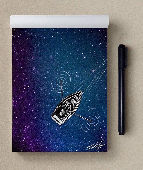 Faraway - Stars Themed Illustrations by Muhammed Salah