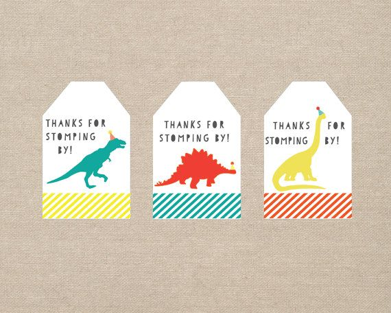 Hey, I found this really awesome Etsy listing at https://www.etsy.com/listing/269901301/dinosaur-party-favor-tags-printable