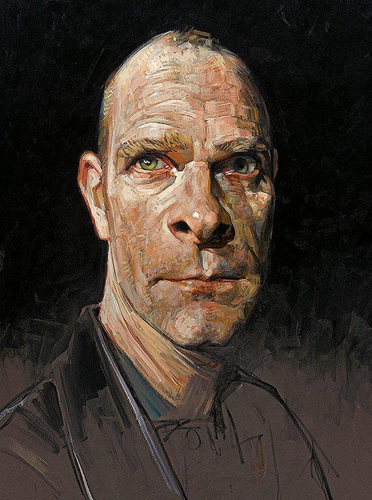 """""""Self Portrait"""" - Sebastian Kruger {contemporary artist male head caricature man face portrait painting} Versatile!!"""