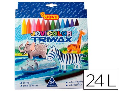 LAPICES CERA JOVICOLOR TRIANGULAR TRIWAX 24 COLORES