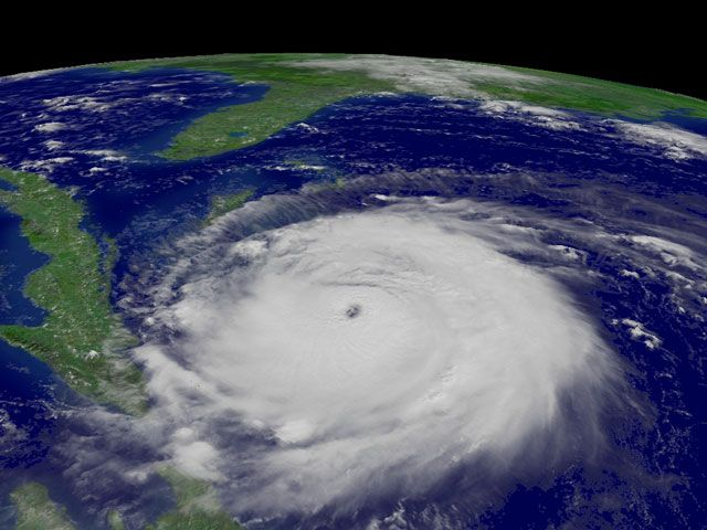 """Ah, the Summer of the 4 Hurricanes!! (May it never be repeated!) From APOD: """"Hurricane Frances Approaches Florida (Sept 3 2004) IMAGE  CREDIT: NASA, NOAA ...Hurricane Frances, one of the stronger storm systems of modern times, may cross the eastern coast of Florida sometime tomorrow. Those in the path of a hurricane should take precautions. For example, NASA's Kennedy Space Center has completely shut down. The orbiting GOES-12 satellite took the above image of Hurricane Frances..."""""""