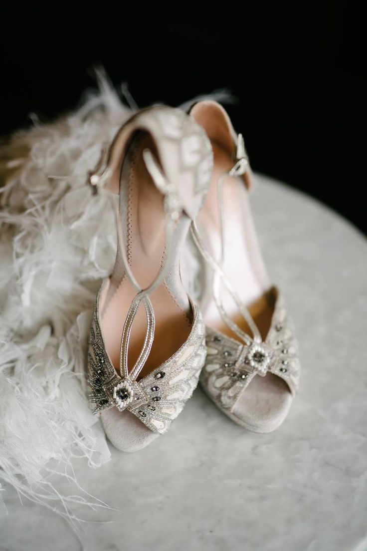 Art Deco Wedding Inspiration In A Renowned Italian Cafe Ruffled Wedding Shoes Art Deco Wedding Inspiration Modern Art Deco Wedding