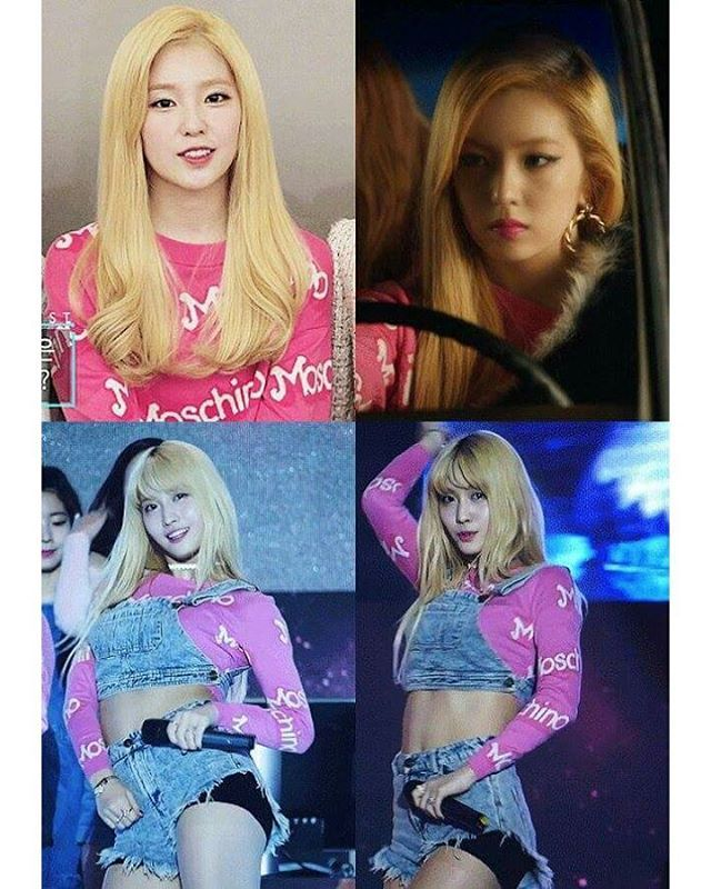 Pakai Baju Kembaran Ini Bedanya Irene Red Velvet dan Momo Twice  - Follow @kutipan.korea - Irene dan Momo pakai baju yang sama. Siapa yang lebih cantik menurut kalian?  WowKeren.com- Memakai baju yang sama sudah sering dialami para selebriti. Kali ini netter mencoba membandingkan gaya Irene Red Velvet dan Momo Twice dua idol dengan imej namun dengan pakaian yang sama. . Irene dan Momo diketahui pernah mengenakan kaos lengan panjang berwarna merah muda yang sama. Atasan koleksi Moschino…