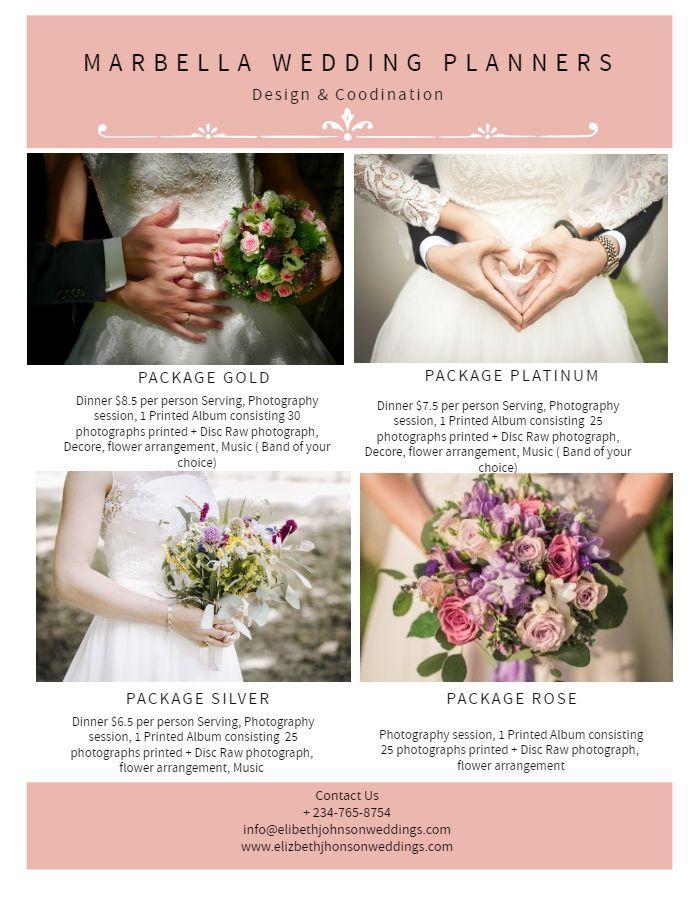 Wedding Planner Flyer Design Event Planning Flyer Wedding Planner Wedding