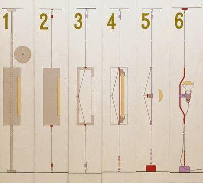 PARENTESI    Lampada a saliscendi    1970 Progetto: Achille Castiglioni e Pio Manzù    1970 Produzione: Flos