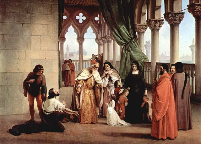 O αποχωρισμός των  δύο Φόσκαρι (1852)