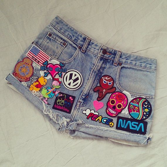 Vintage Patched Shorts / Patchwork Shorts / by KodChaPhorn on Etsy, $55.00