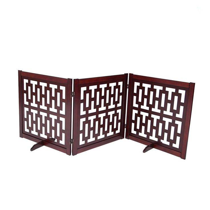 """CONTEMPORARY DESIGNER DOG GATE 27"""" – Free shipping and tax included on all designer dog gates. Add style to your home with our luxury pet gates.  Perfect for puppies too! Our indoor and outdoor dog gates will be a great addition to your home.  #dog #doggate #talldoggate #petgate #puppygate #designerpetfurniture"""