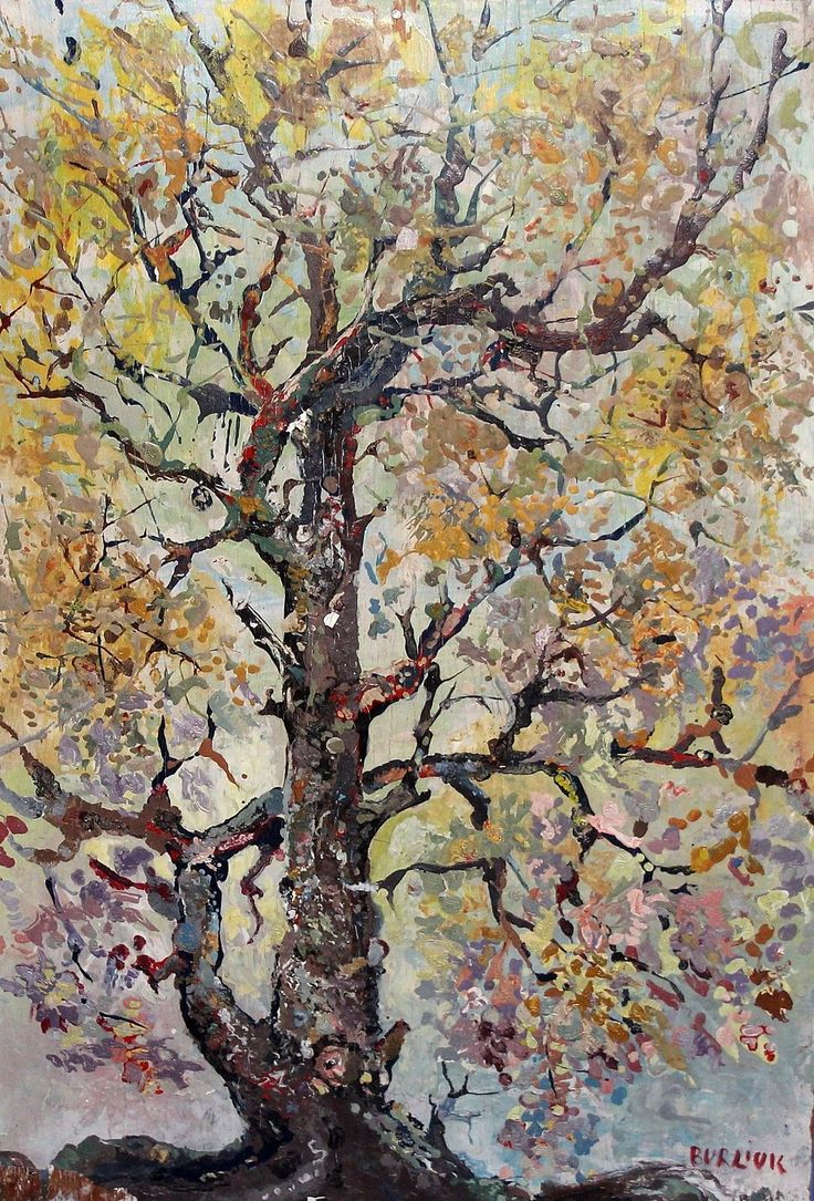 David Davidovich Burliuk (Russian Federation 1882-1967 USA) Great Tree in Autumn (c. 1944) oil on board 33.88 x 38.1 cm