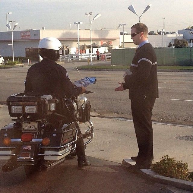 Torrence, California USA - Sharing the Good News with a police officer. Our worldwide brotherhood♥
