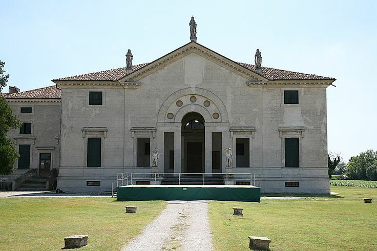Villa Pojana is a patrician villa in Pojana Maggiore, a town of the Province of Vicenza in the Veneto region of Italy. It was designed by Andrea Palladio. Palladio's design was inspired by ancient Roman baths, which he had studied during a trip to Rome. The main floor is characterized by a large hall with a barrel vault ceiling. Villa Pojana remains one of the most curious examples of Palladio's architecture
