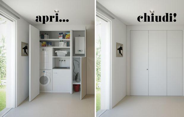 L'armadio a muro per nascondere lavanderia, ripostiglio, guardaroba