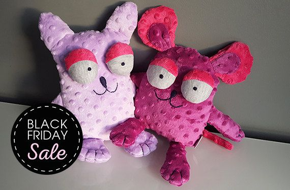 Black Friday Sale 20% off Kitty and Mouse – naughty duo / Stuffed animals & plushies, christmas and birthday gift, kids play toys by KAKUMAstore on Etsy