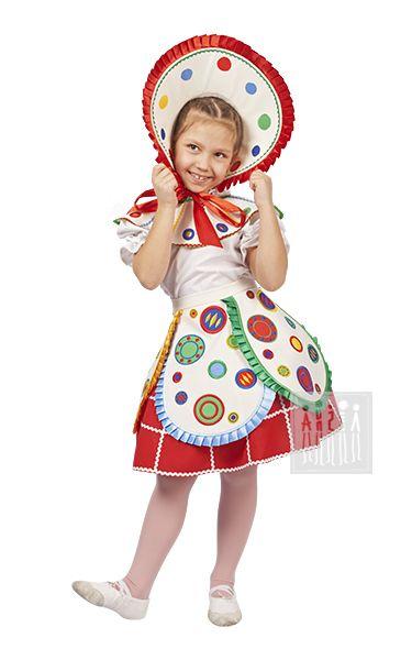 Карнавальный костюм Дымковская игрушка - костюм для девочки Русский народный…