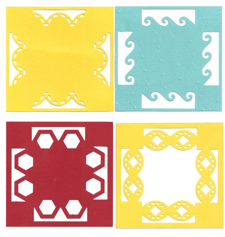 """border maker 4"""" squares 2 of 4 images Use for layouts and cards"""