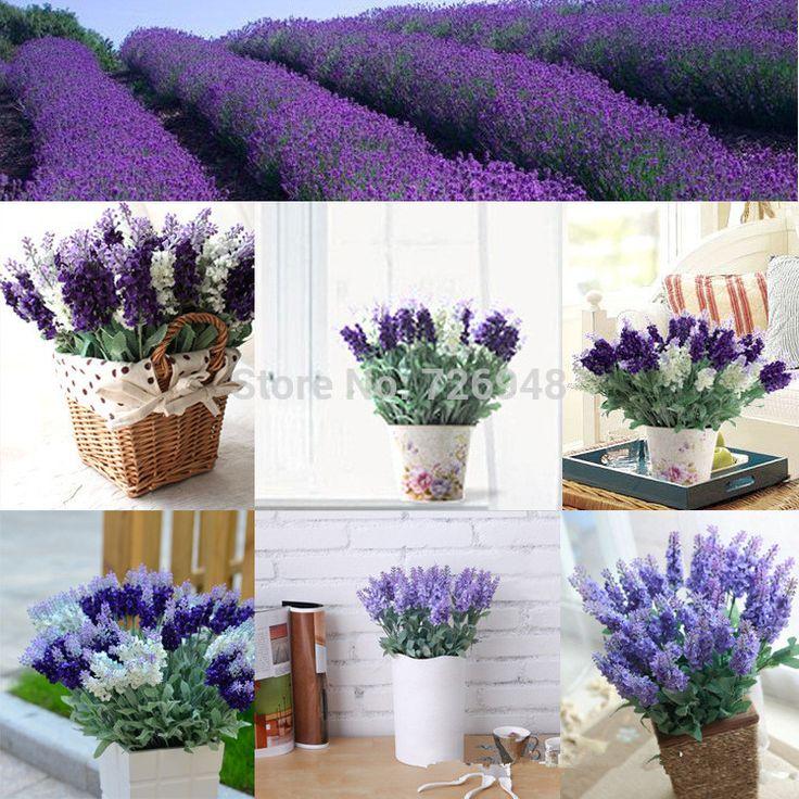 Искусственные Цветы Оптовая Торговля 10 Лаванды Декоративные Искусственные Цветы Искусственные Растения
