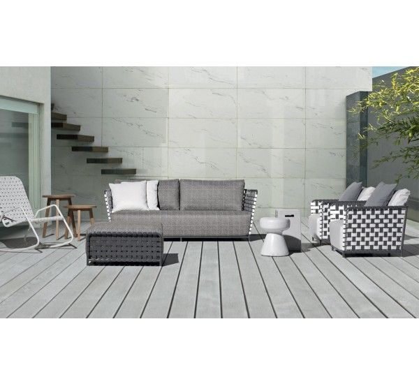 InOut 803F is an outdoor sofa, produced by Paola Navone for Gervasoni, in tubular aluminum.