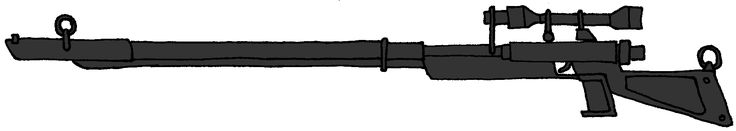 """Weequay """"Underworld"""" sniper rifle, used by Weequay pirates and Assassin droids during and after the clone wars"""