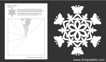 paper snowflake pdf template 7 papel picado pinterest