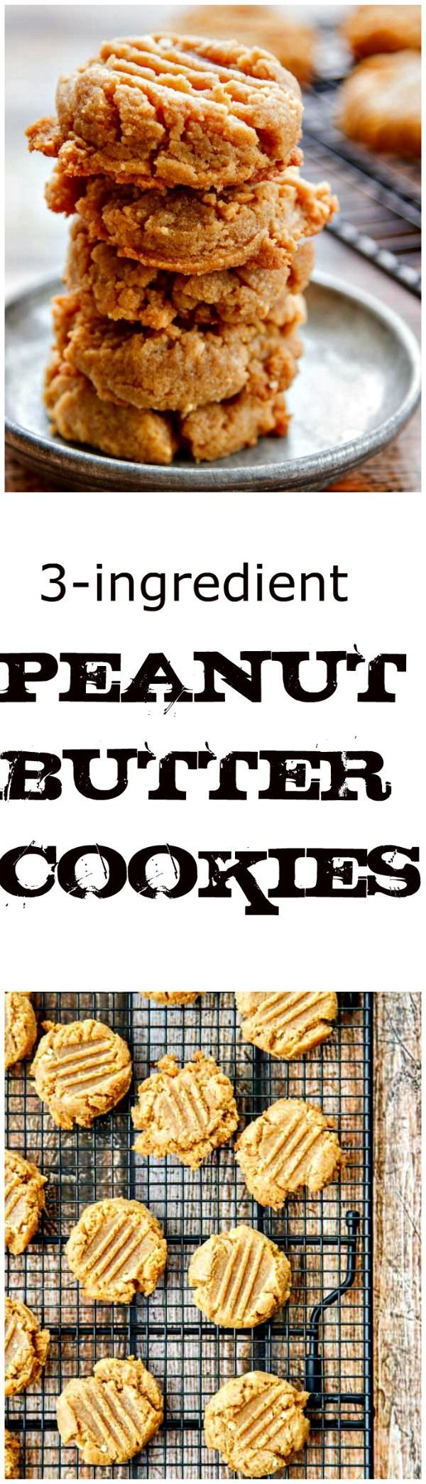 Flourless Peanut Putter Cookies. SO good and naturally #glutenfree!