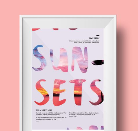 "Check out this @Behance project: ""Poster // Sunsets"" https://www.behance.net/gallery/34953591/Poster-Sunsets"