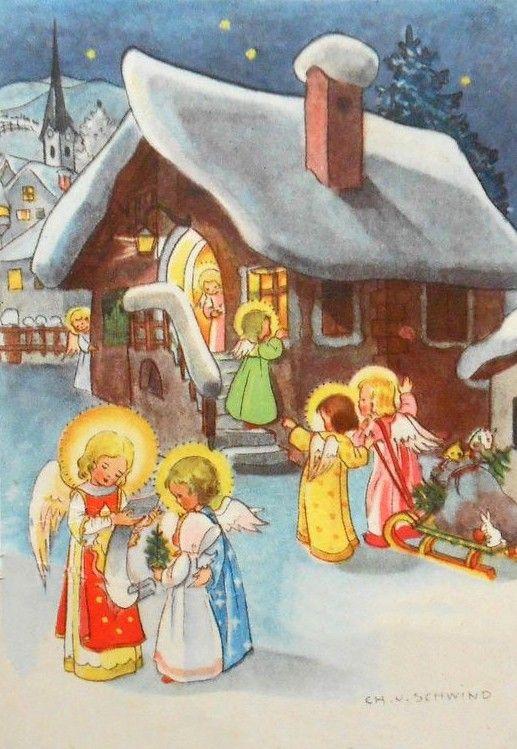 Рождественская открытка германии