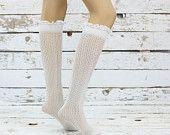 Chaussettes de dentelle Micro résille genou Highssock Soft boot girly sexy chaussette chaussettes boot chaussettes de genou de femmes brassards accessoire anniversaire cadeaux
