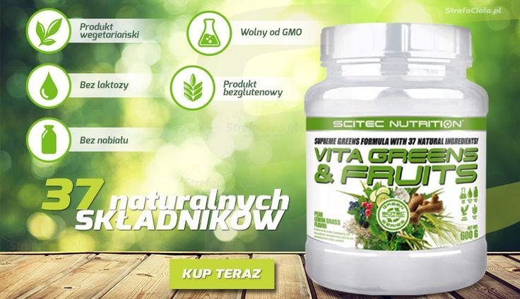 Niezwykła formuła roślinna zawierająca 37 naturalnych składników #strefaciala.pl #scitec #witaminy #vitamin #fit
