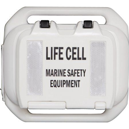 Life Cell The Trailer Boat Emergency Flotation Device and Storage, 2 to 4 Person Use, White