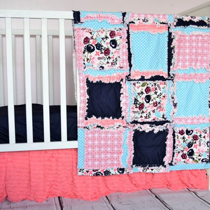 Baby Girl Crib Set - Purple Baby Bedding - Rag Quilt, Crib Skirt, Sheet, Bumpers – A Vision to Remember