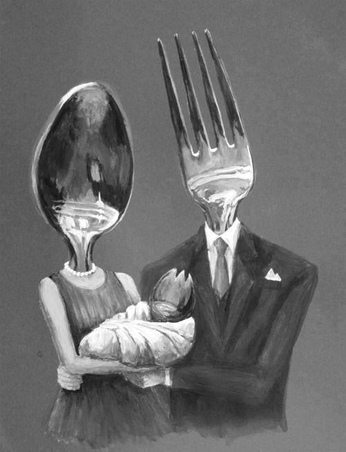 Señor y señora cena.