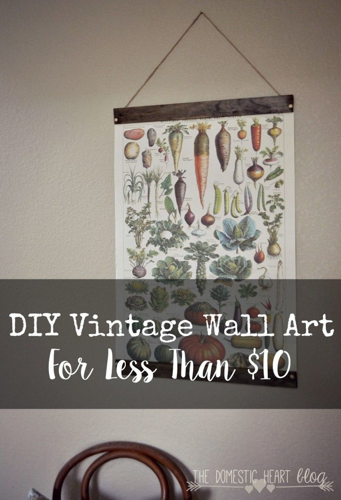 anyone can make this simple, large vintage wall art from a surprise