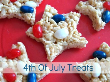 Rice Krispies Stars - could use m instead of jelly beans