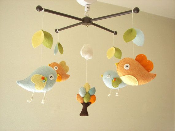 17 best ideas about baby mobile felt on pinterest felt for Bird mobiles for nursery