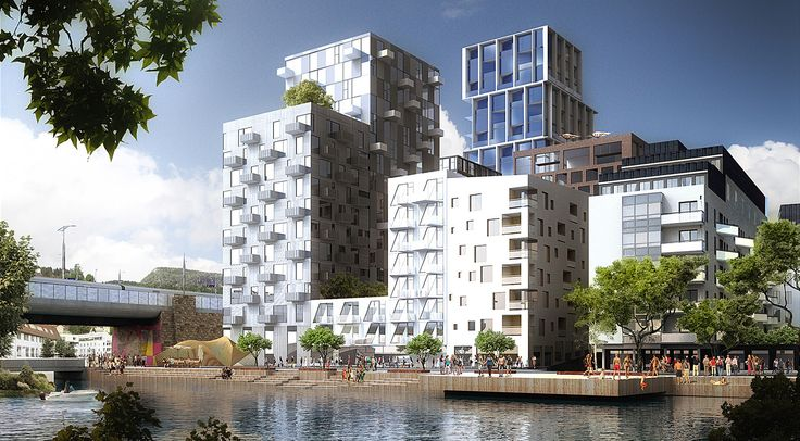 MAD is planning central areas in the centre of the city Sandvika.