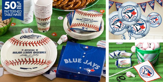 Party supplies from Party City! http://www.partycity.com/product/toronto+blue+jays+party+supplies.do