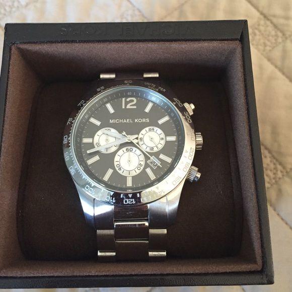 Michael Kors men's watch Michael Kors men's silver watch...excellent condition with box Michael Kors Jewelry