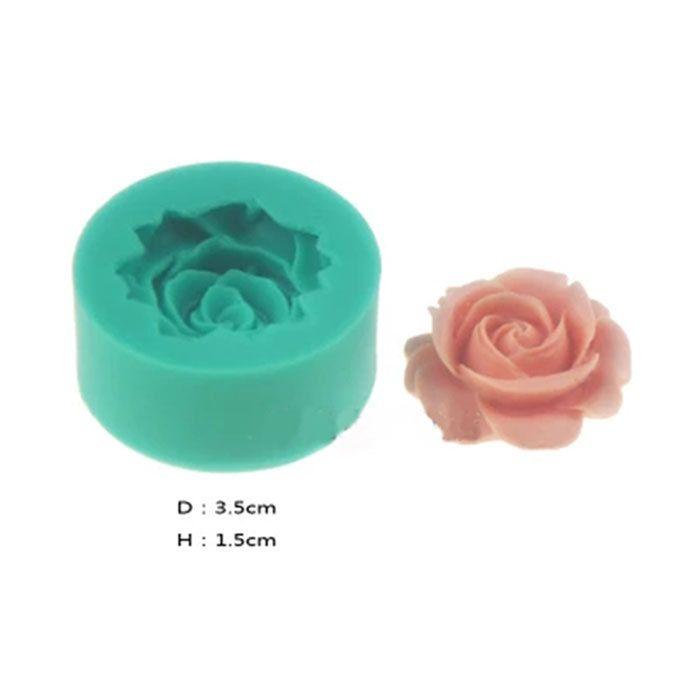 Pas Cher Mini Bricolage 3d Fleur Rose Fondant G Teau Au