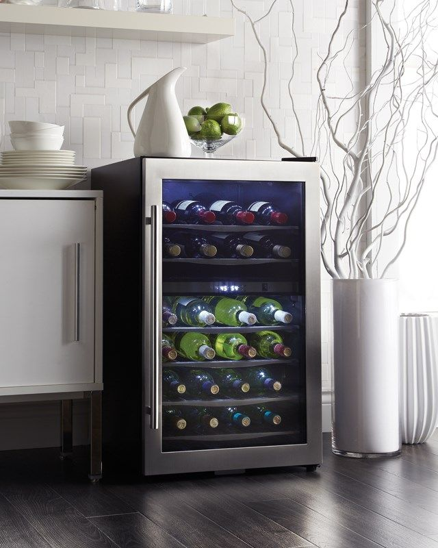 free-standing wine cooler or wine fridge. Fits great with any home decor.  Looking for a wine refrigerator? Look no further than Danbys