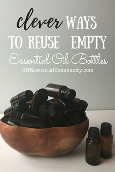 """Love this!! so many creative & practicalideas to reuse empty essential oil bottles! hand sanitizer, pillow spray, make-ahead diffuser blends, owie spray, personal inhalers, """"Lysol"""" disinfecting spray, skin toner, face serum, bath salts, air freshener, anti-itch spray, perfume, and LOTS MORE!!"""