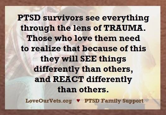 Very important those who loves attempt to understand us. #PTSDAwareness