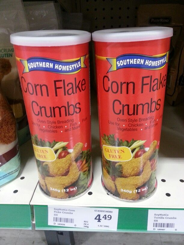 Product: Southern Homestyle Corn Flake Crumbs.  Store: Sobey's, Glendale Ave., St. Catharines, ON.  Can use this as low FODMAP option for breading.  Neal Glauser, RD  05/10/2014.