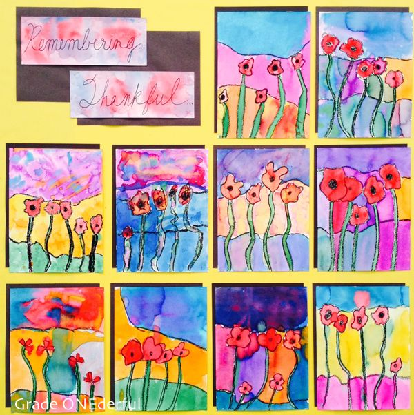 Grade ONEderful: More Poppy Art!