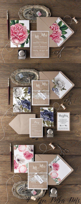 Botanical wedding invitations  #rusticwedding #botanicalwedding