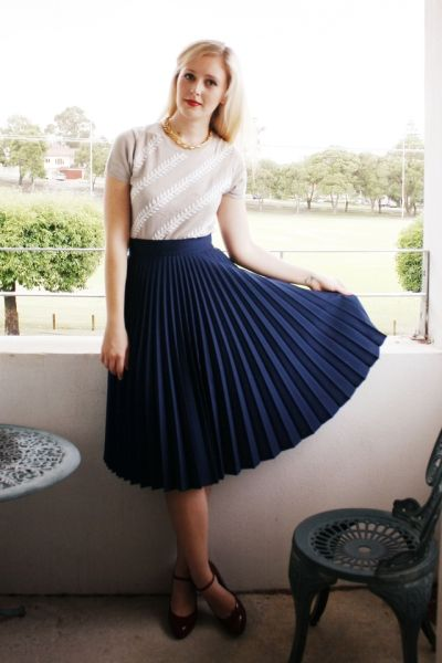 Moda: Saias plissadas (plissé) – fotos de looks!