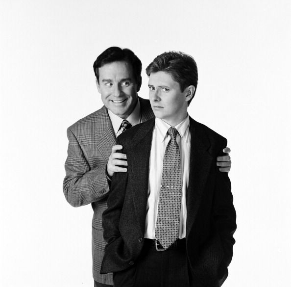 Phil Hartman as Bill McNeal Dave Foley as Dave Nelson Photo by Dave Bjerke NewsRadio
