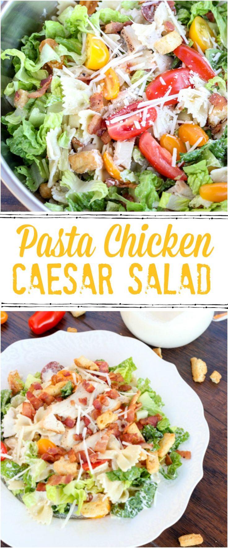 Pasta chicken Caesar recipe