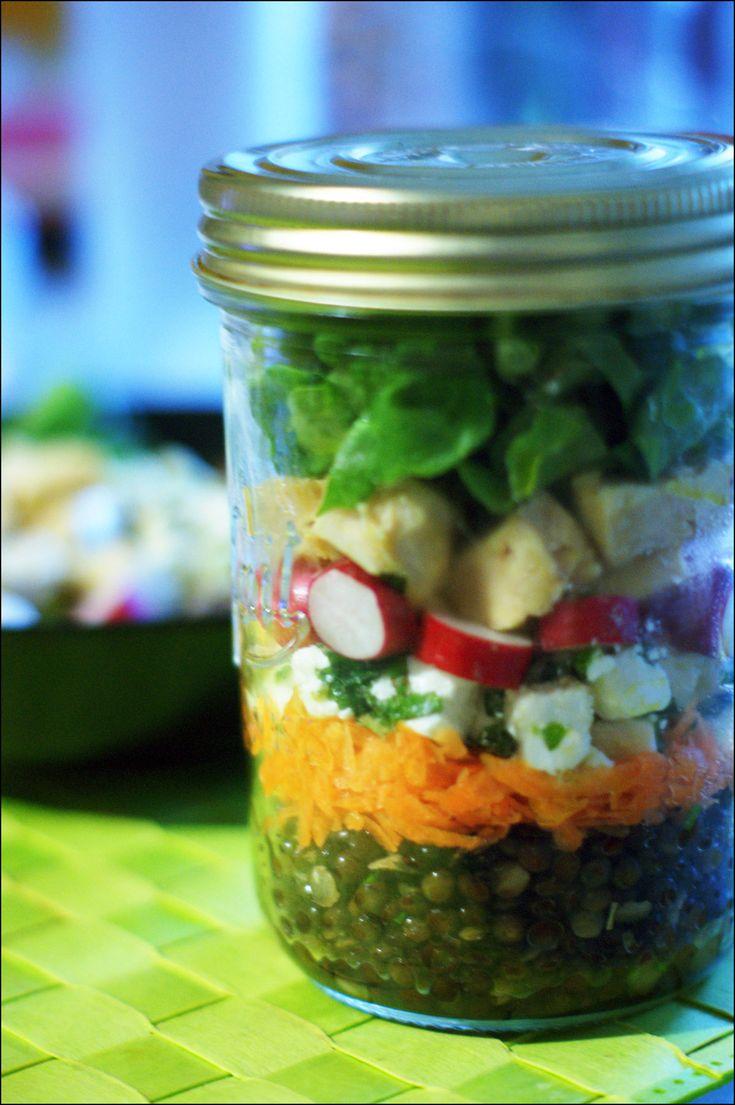 Les 20 meilleures id es de la cat gorie cartes bocal conserves sur pinterest cr ation de - Salade en bocal ...